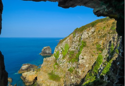 Window in the rock, Sark Island