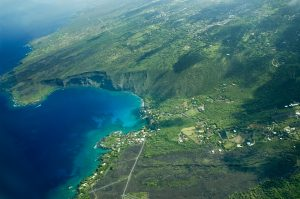 Kealakekua Bay, Big Island aerial shot, Hawaii