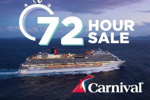 Carnival Sydney 72 hour sale