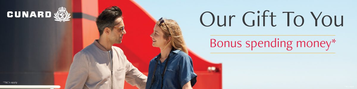 Cunard Cruises on sale- onboard credit